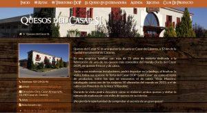 Captura de la Web de la Ruta del Queso de Extremadura