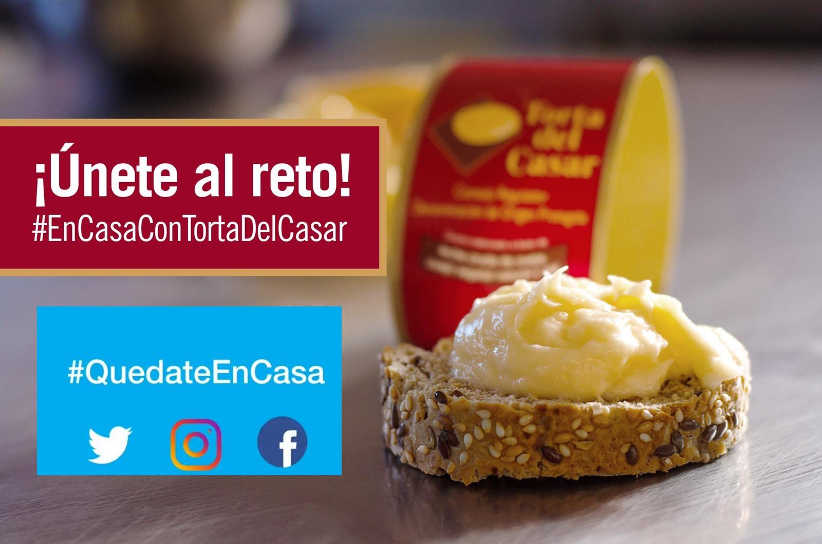 Únete al Reto #En Casa con Torta del Casar y gana un delicioso lote!